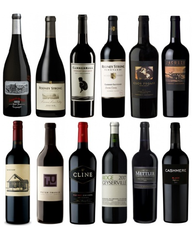 Tasting set of 12 great California reds